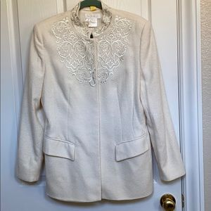 Escada wool jacket with embroidery